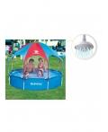 Детский каркасный восьмиугольный бассейн с тентом от солнца BestWay 56193 Размер: 244 x 51 см