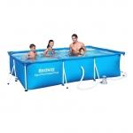 Каркасный бассейн Bestway 56424 (400х211х81) с картриджным фильтром