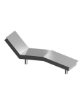 Лежак аэромассажный однополосный  (под пленку)